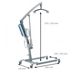 Sollevatore per anziani e disabili elettrico Atlante, portata 140 kg