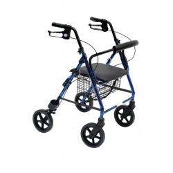 Deambulatore /Rollator ROLLY-ALU in alluminio con 4 ruote con cestino