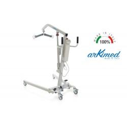 Sollevatore/sollevamalati elettrico arKimed RI703 - Portata massima 135 Kg con apertura a pedale