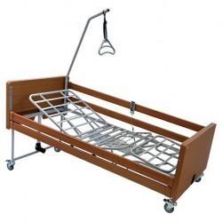 noleggio letto elettrico in metallo con sponde in legno