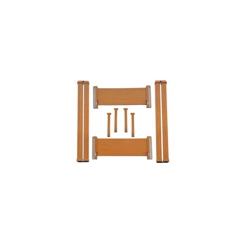Kit in legno senza ruote per letti metallici Arpa, Liuto e Cetra smontabili