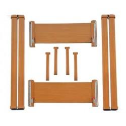 Kit in legno senza ruote per letti metallici Liuto e Cetra
