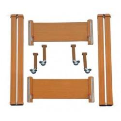 Kit in legno con ruote per letti metallici Liuto e Cetra